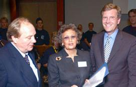 Gratulation und Dank für eine Stifterin gab es gestern von Ministerpräsident Christian Wulff und OB Hans-Jürgen Fip an die Adresse von Felicitas Egerland, die eine neue Jugendstiftung mit dem Namen Werner-Egerland-Stiftung begründet hat.